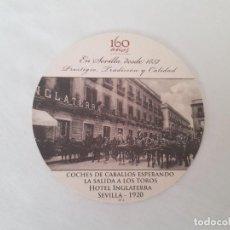 Coleccionismo: POSAVASO CONMEMORATIVO 160 AÑOS HOTEL INGLATERRA (SEVILLA). Lote 183821925