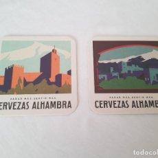 Coleccionismo: LOTE 2 POSAVASOS CERVEZAS ALHAMBRA . Lote 183822548