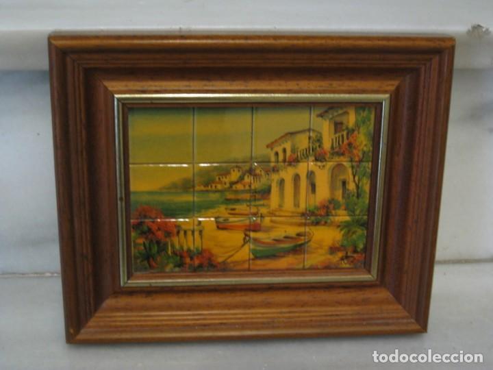 Coleccionismo: Cuadro de cerámica 23x19 cm del autor Ruz - Foto 2 - 183935171