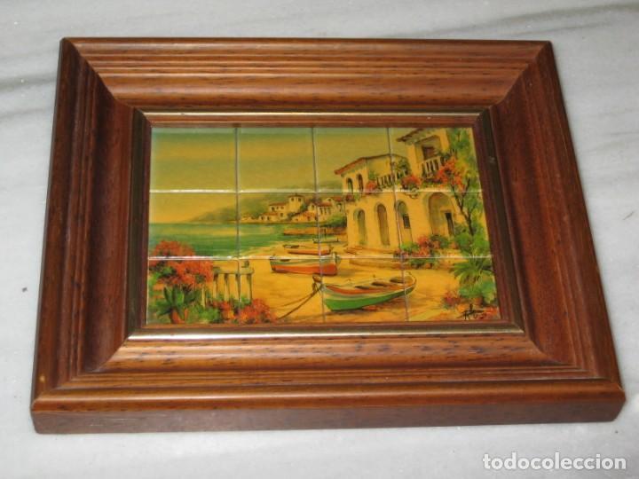 Coleccionismo: Cuadro de cerámica 23x19 cm del autor Ruz - Foto 3 - 183935171
