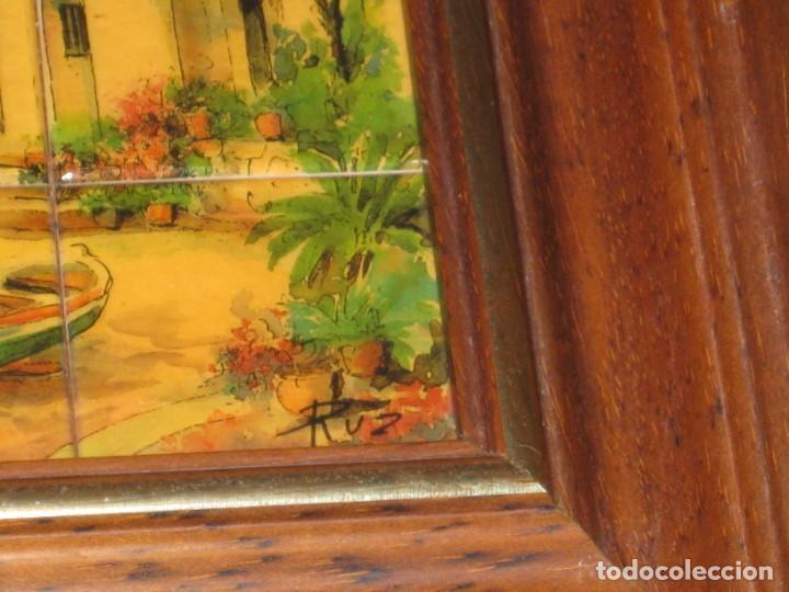 Coleccionismo: Cuadro de cerámica 23x19 cm del autor Ruz - Foto 5 - 183935171