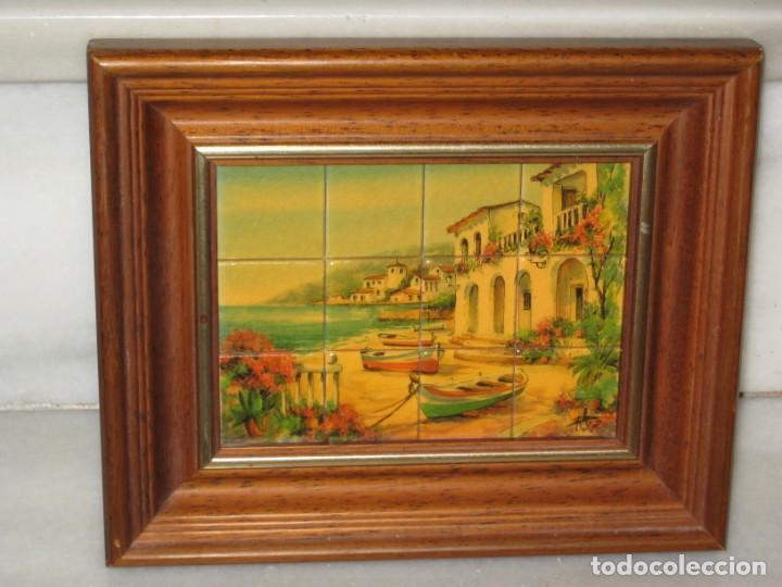 Coleccionismo: Cuadro de cerámica 23x19 cm del autor Ruz - Foto 6 - 183935171