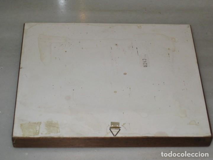 Coleccionismo: Cuadro de cerámica 23x19 cm del autor Ruz - Foto 7 - 183935171