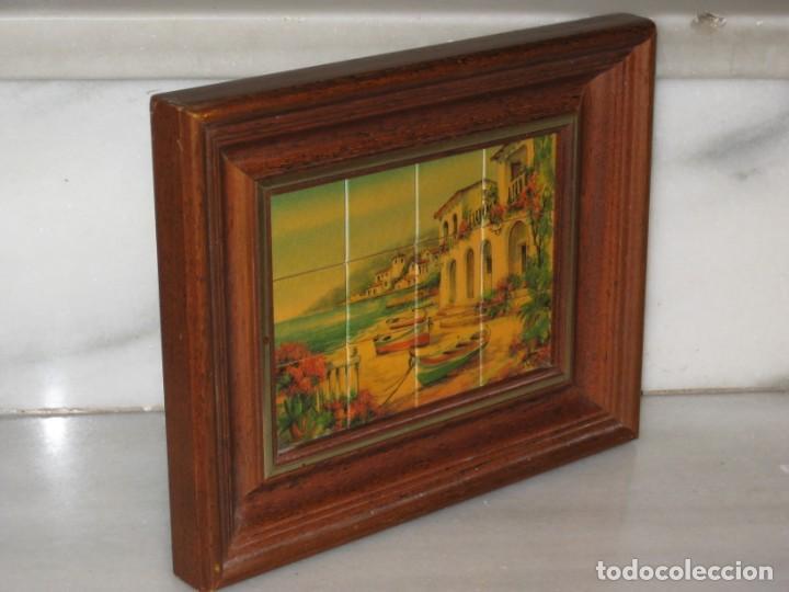 Coleccionismo: Cuadro de cerámica 23x19 cm del autor Ruz - Foto 8 - 183935171