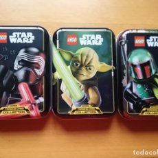 Coleccionismo: 3 LATAS VACÍAS LEGO STAR WARS SERIE 1. Lote 253997395