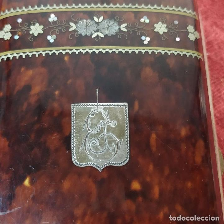 Coleccionismo: CIGARRERA EN CAREY. CON INCRUSTACIONES DE PLATA Y NACAR. ESPAÑA. SIGLO XIX - Foto 3 - 184529667