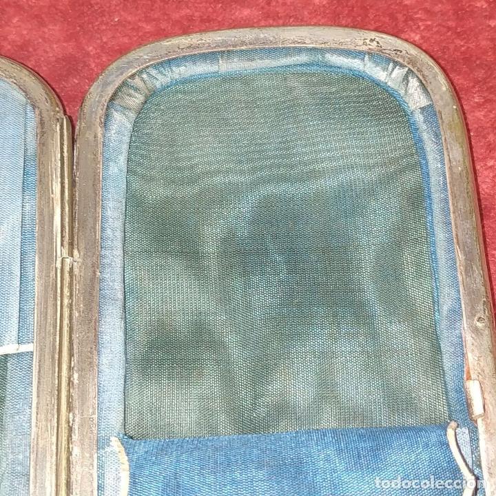 Coleccionismo: CIGARRERA EN CAREY. CON INCRUSTACIONES DE PLATA Y NACAR. ESPAÑA. SIGLO XIX - Foto 5 - 184529667