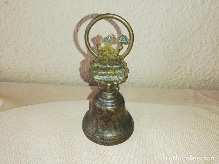 Coleccionismo: Antigua campana de mano - Foto 2 - 184536601