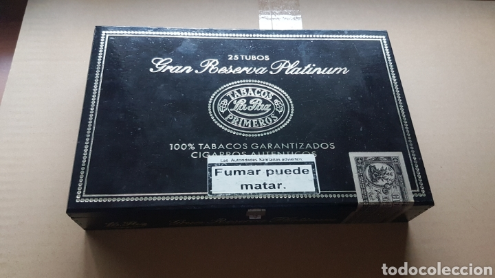 Coleccionismo: CAJA DE PUROS VACIA GRAN RESERVA PLATINUM LA PAZ - Foto 3 - 184860605
