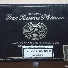 Coleccionismo: CAJA DE PUROS VACIA GRAN RESERVA PLATINUM LA PAZ. Lote 184860605