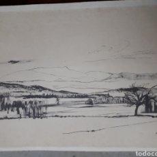 Coleccionismo: DIBUJO FIRMADO. AÑOS 70S.. Lote 185943798