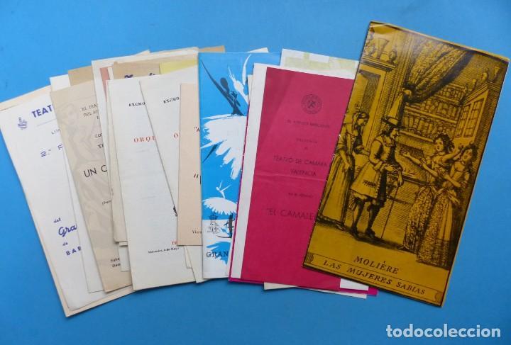 TEATRO, 27 ANTIGUOS PROGRAMAS, AÑOS 1960 - VER FOTOS ADICIONALES (Coleccionismo - Laminas, Programas y Otros Documentos)