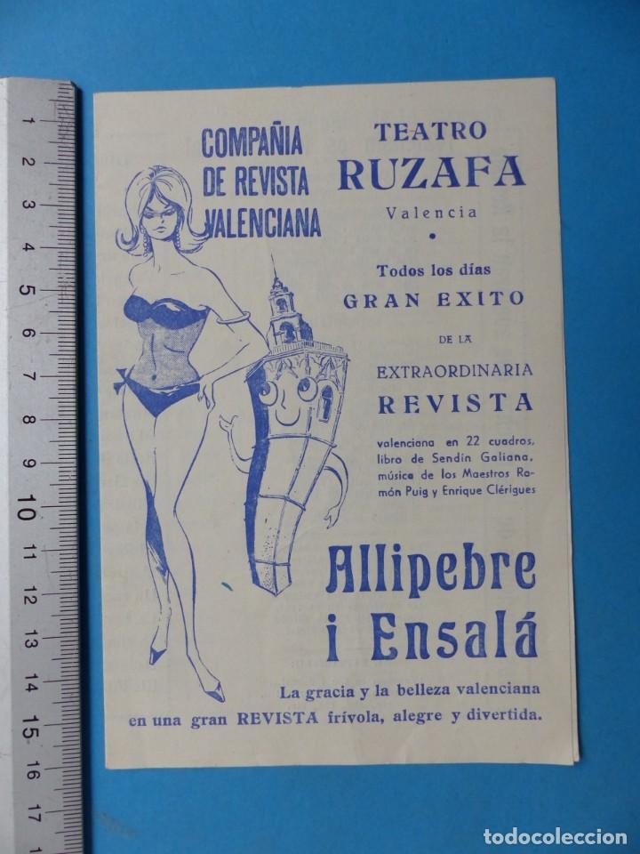 Coleccionismo: TEATRO, 27 ANTIGUOS PROGRAMAS, AÑOS 1960 - VER FOTOS ADICIONALES - Foto 9 - 185970680