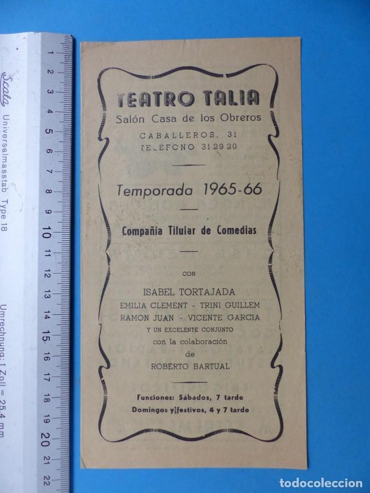 Coleccionismo: TEATRO, 27 ANTIGUOS PROGRAMAS, AÑOS 1960 - VER FOTOS ADICIONALES - Foto 18 - 185970680