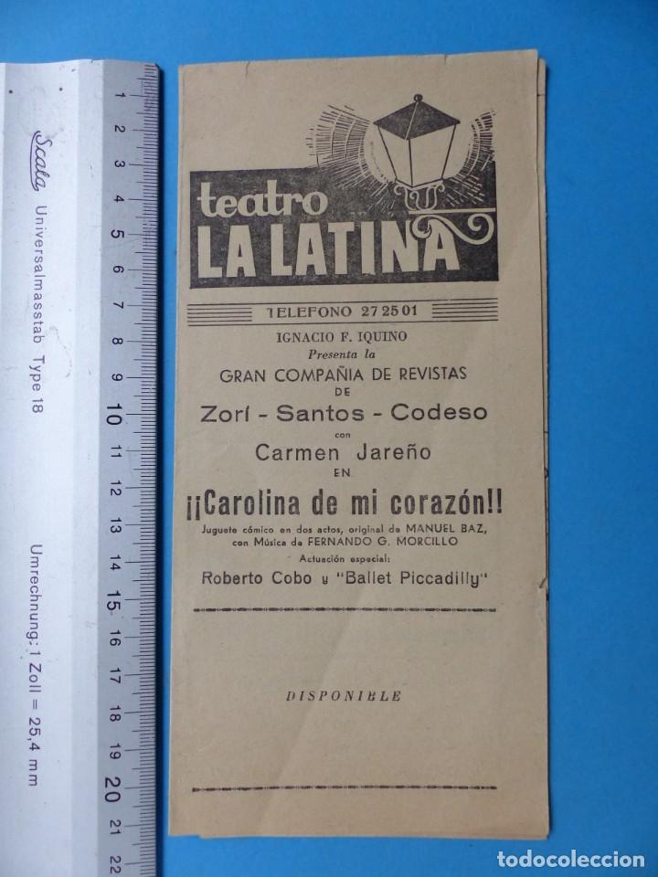 Coleccionismo: TEATRO, 27 ANTIGUOS PROGRAMAS, AÑOS 1960 - VER FOTOS ADICIONALES - Foto 22 - 185970680