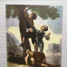 Coleccionismo: DONATIVO CRUZ ROJA MUCHACHOS TREPANDO A UN ÁRBOL GOYA. Lote 185984518