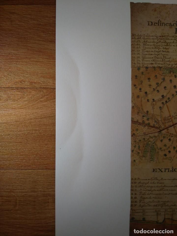 Coleccionismo: Reproducción plano y corte fuente Convento Santa Ana, Agustinas, San Mateo (Castellón), 1773 - Foto 2 - 185984576