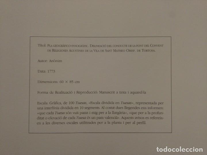 Coleccionismo: Reproducción plano y corte fuente Convento Santa Ana, Agustinas, San Mateo (Castellón), 1773 - Foto 4 - 185984576