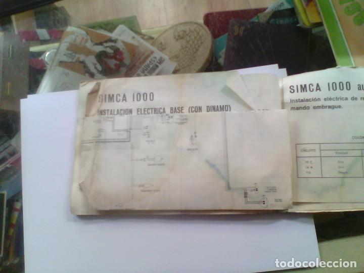 Coleccionismo: manual de instrucciones para utilizacion y entretenimiento simca 1000 automatico - Foto 3 - 186068732