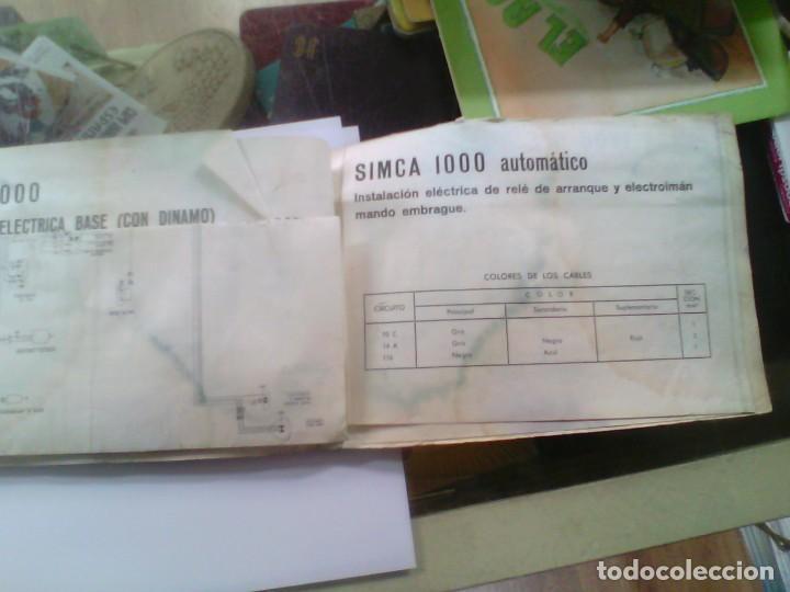 Coleccionismo: manual de instrucciones para utilizacion y entretenimiento simca 1000 automatico - Foto 4 - 186068732