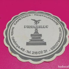 Coleccionismo: POSAVASO CAFETERÍA PICCADILLY . Lote 186182572