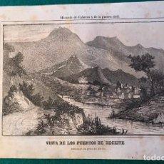 Collezionismo: 3 GRABADOS DE BECEITE, TERUEL. 1ª GUERRA CARLISTA. 1846. Lote 186436458