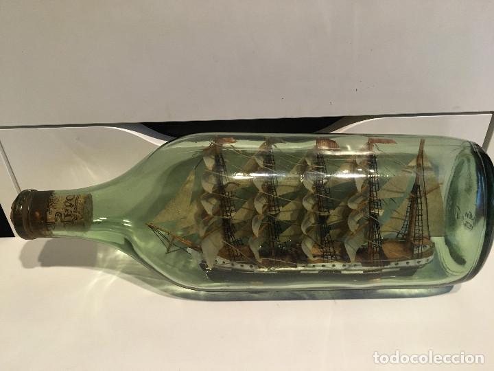 Coleccionismo: Barco en botella - Foto 3 - 187570166