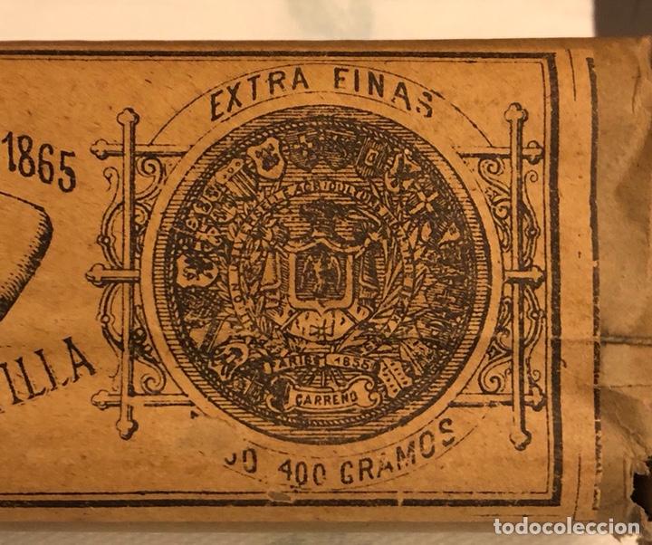 Coleccionismo: Raro paquete con 4 bujías estearicas, siglo XIX - Foto 4 - 188508298