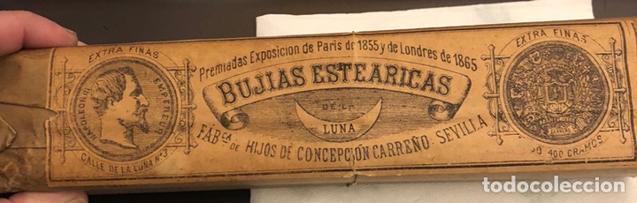 RARO PAQUETE CON 4 BUJÍAS ESTEARICAS, SIGLO XIX (Coleccionismo - Varios)