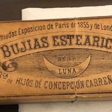 Coleccionismo: RARO PAQUETE CON 4 BUJÍAS ESTEARICAS, SIGLO XIX. Lote 188508298