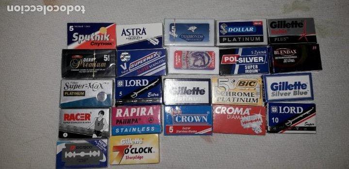 Coleccionismo: Lote de 52 cajas con hojas de afeitar - Foto 2 - 188567702