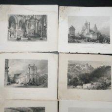 Coleccionismo: LÁMINAS ANTIGUAS DE LONDON Y PARÍS. Lote 188862841