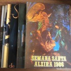Coleccionismo: SEMANA SANTA-ALZIRA-PROGRAMAS DE FIESTAS- 6 LIBROS.. Lote 189329613