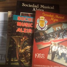 Coleccionismo: ALZIRA-SANTA CECILIA-15 PROGRAMAS-SOCIEDAD MUSICAL DE ALZIRA. Lote 189334740