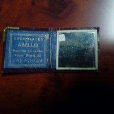 Coleccionismo: ESPEJO DE BOLSILLO PUBLICIDAD DE CHOCOLATES ABELLO DE ZARAGOZA. Lote 189687258