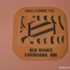 Colecionismo: POSAVASOS WELCOME TO DES RYAN'S CARINGBAH INN. AUSTRALIA.. Lote 189902286