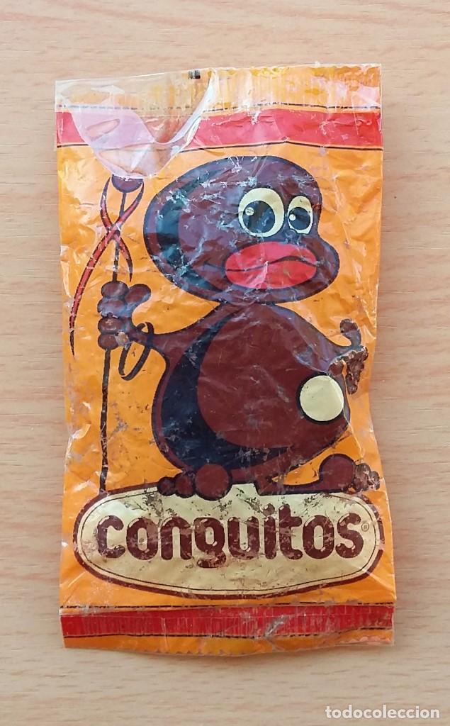 Coleccionismo: BOLSA DE CONGUITOS CHOCOLATE REPLICA ORIGINAL 1985 - Foto 3 - 190067816