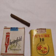 Collectionnisme: LOTE 2CAJETILLAS CIGARRILLOS DE CHOCOLATE. Lote 190151306