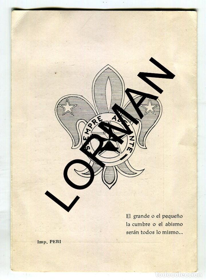Coleccionismo: TORTOSA JOSE A. MONSERRAT ESPUNY JEFE SCOUT DE TORTOSA 1904-1966 MISA MIG CAMI FORMATO DIPTICO 1966 - Foto 2 - 190169937