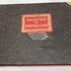 Coleccionismo: LIBRO DE CONTABILIDAD REGISTRO DE ENTRADAS DE CORRESPONDENCIA AÑOS 30/40. Lote 190466778