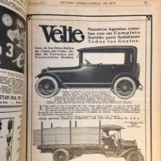 Coleccionismo: REVISTA INTERNACIONAL DE DUN. 1916. NUEVA YORK. ECONOMIA ESPAÑOLA. CENTENARES ANUNCIOS. AUTOMOVILES. Lote 190499008