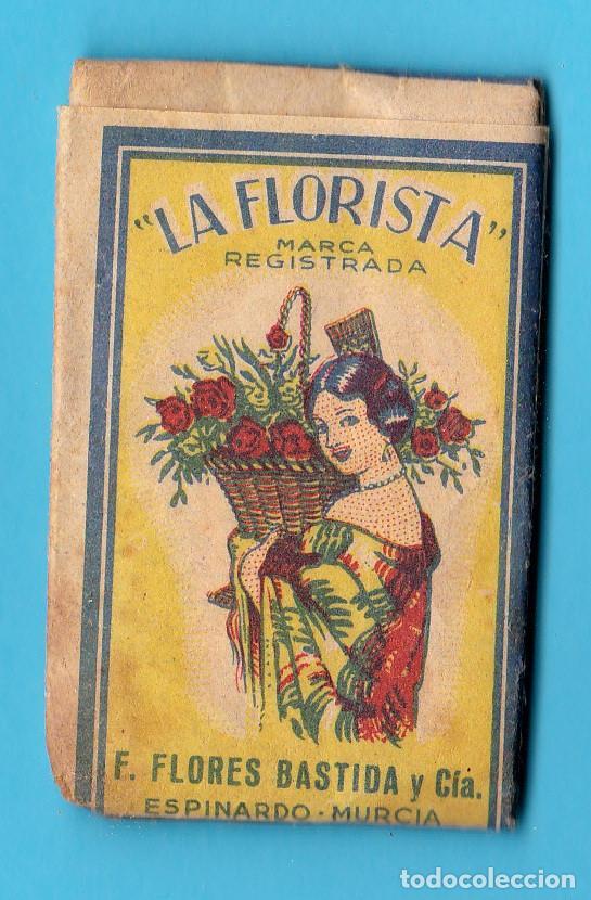 ADITIVO COLORANTE LA FLORISTA. ADITIVO SUCEDÁNEO CANELA. F. FLORES BASTIDA. ESPINARDO, MURCIA (Coleccionismo - Varios)