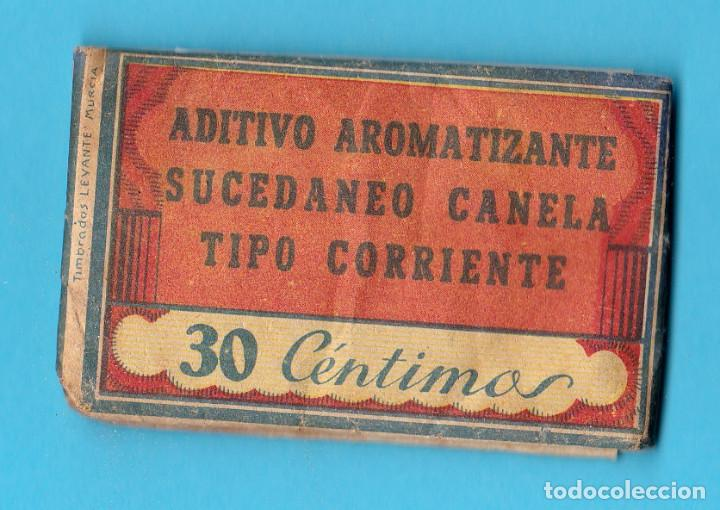 Coleccionismo: ADITIVO COLORANTE LA FLORISTA. ADITIVO SUCEDÁNEO CANELA. F. FLORES BASTIDA. ESPINARDO, MURCIA - Foto 2 - 190588846