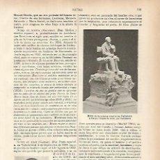 Coleccionismo: LAMINA ESPASA 25854: GASPAR NUÑEZ DE ARCE. Lote 114155391