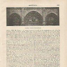 Coleccionismo: LAMINA ESPASA 26284: AARCHIVOLTA DE LA CATEDRAL DE CHARTRES FRANCIA. Lote 117141118