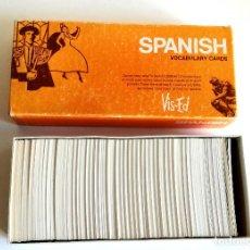 Coleccionismo: CAJA SPANISH VOCABULARY CARDS OHIO USA 1982 TARJETAS PALABRAS VOCABULARIO INGLÉS ESPAÑOL. Lote 191053850