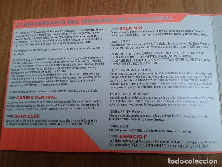 Coleccionismo: Flyer -- Mercado Fuencarral -- 2º Anivers. -- Zeta, Markus Jazz, Mell Allen Dj -- Madrid, 15/12/2000 - Foto 3 - 191273567