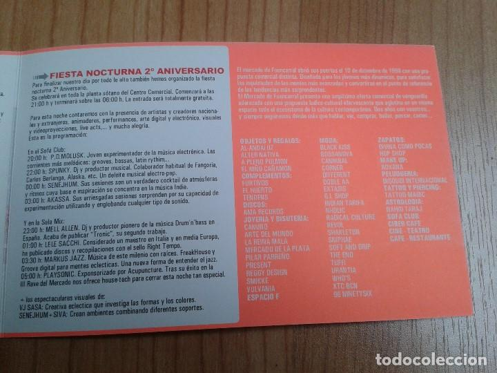 Coleccionismo: Flyer -- Mercado Fuencarral -- 2º Anivers. -- Zeta, Markus Jazz, Mell Allen Dj -- Madrid, 15/12/2000 - Foto 4 - 191273567