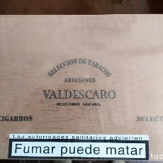 Coleccionismo: CAJA DE PUROS HONDUREÑOS VALDESCARO - 25 UNIDADES - PRECINTADA. Lote 191366846