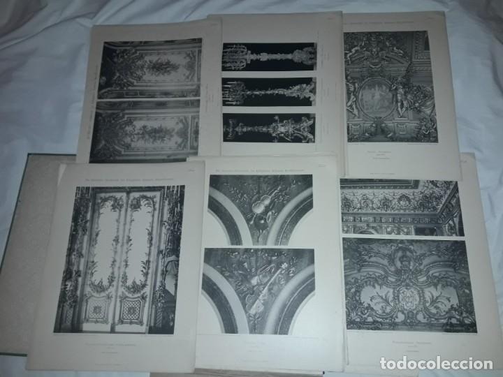 ANTIGUO LIBRO 60 LAMINAS DIE DEKORATIVE ORNAMENTIK DES KÖNIGL SCHLOSSES HERRENCHIEMSEE 42X31.5CM (Coleccionismo - Laminas, Programas y Otros Documentos)